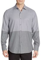 Saks Fifth Avenue Regular-Fit Dot Two-Tone Cotton Sportshirt