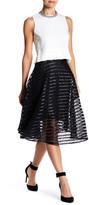 Yoana Baraschi Girl Power Faux Leather & Lace Skirt