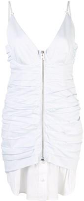 Alexander Wang ruched zip front dress