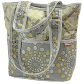 Hoohobbers Tote Diaper Bag, Burst Sterling