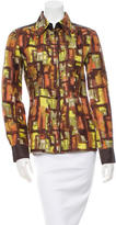 Philosophy di Alberta Ferretti Silk Printed Top