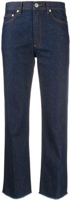 A.P.C. Cropped Wide-Leg Jeans