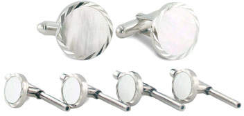 David Donahue Mother-of-Pearl Cuff Links & Studs Set