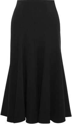 Derek Lam Moore Pleated Cady Midi Skirt
