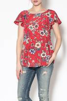 Cherish Red Floral Top