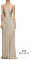 Maria Lucia Hohan Ava Silk Pleated Gown