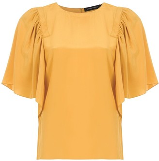 Andrea Marques Ruffled Silk Blouse