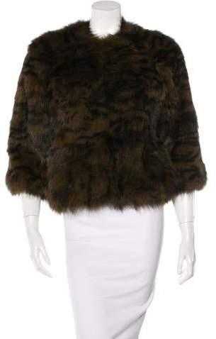 Yves Salomon Knitted Fox Fur Jacket