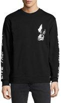 McQ Bunny Skulls Long-Sleeve Cotton T-Shirt, Black