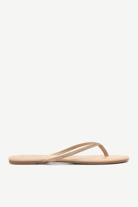 Ardene Faux Gem Flip-Flop Sandals