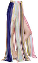 Missoni Striped Knit Long Skirt With High Slits
