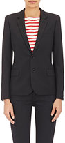 Saint Laurent Women's Twill Two-Button Blazer-BLACK