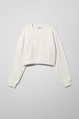 Weekday Aldo Seam Detail Sweatshirt - White