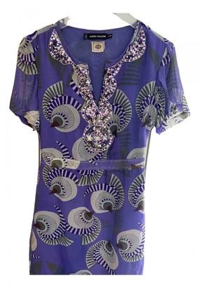 Antik Batik Purple Silk Dress for Women