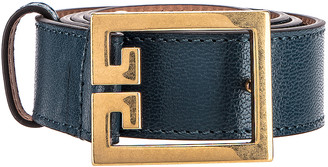 Givenchy GV3 Leather Buckle Belt in Oil Blue | FWRD
