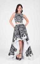 Terani Couture Two Piece Patterned Hi-lo Prom Gown 1711P2728
