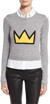 Alice + Olivia Nikia Crown Cropped Pullover & Shirt Combo
