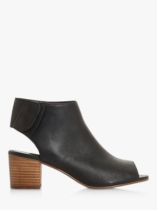 Dune Jammy Peep Toe Block Heel Sandals