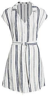Bella Dahl Women's Stripe Cap-Sleeve Tie-Waist Shirtdress