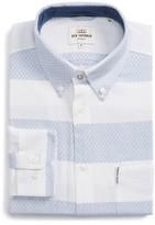 Ben Sherman Men's Dobby Gingham Stripes Shirt