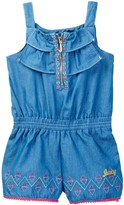 Juicy Couture Chambray Romper with Pom Pom Trim (Toddler Girls)