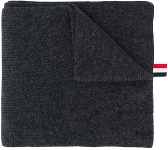 Thom Browne Four-Striped Cashmere Scarf