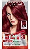 L'Oreal Feria Power Reds Hair Color, R57 Intense Medium Auburn (Packaging May Vary)