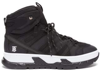 Burberry Rs5 Panelled High Top Trainers - Mens - Black