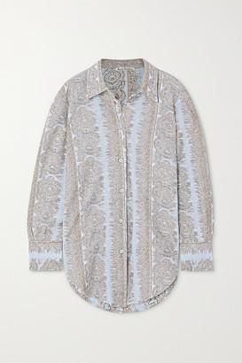 Acne Studios Metallic Cotton-blend Jacquard Shirt - Light blue