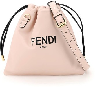 Fendi PACK SMALL POUCH ROMA OS Pink, Black Leather