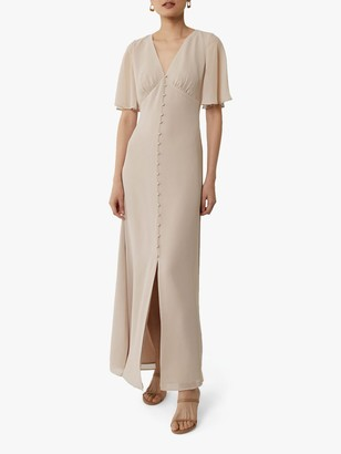 Warehouse Angel Sleeve Maxi Dress, Mink