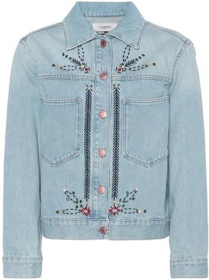 Etoile Isabel Marant Cabella embellished denim jacket