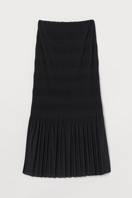 H&M Pleated Jersey Skirt - Black