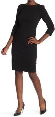 Calvin Klein 3/4 Length Sleeve Sheath Dress