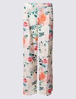 Per Una Floral Print Wide Leg Trousers