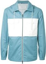 Cerruti hooded contrast pocket jacket