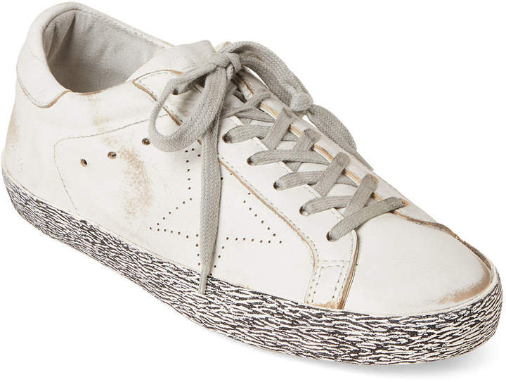Golden Goose White Skate Leather Low-Top Sneakers