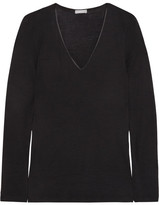 Hanro Merino Wool And Silk-blend Jersey Top - Black