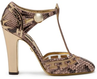 Dolce & Gabbana Snake-Effect High-Heel Pumps