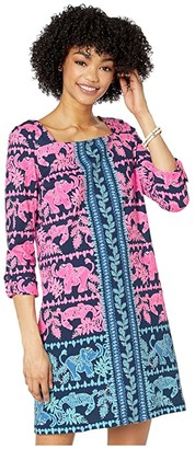 Lilly Pulitzer Bailee Dress (High Tide Navy Perfect Pair Engineered Knit) Women's Dress