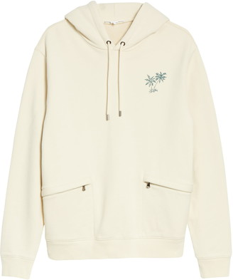 Frame Classic Fit Embroidered Palm Tree Hoodie