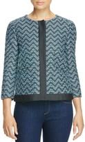 Armani Collezioni Zigzag Tweed Jacket
