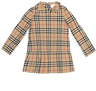 BURBERRY KIDS Melania Check cotton dress