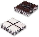 Anika Reversable Coasters, Pack of 4, Brown/Cream