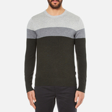 Michael Kors Men's Wool Blend Crew Neck Jumper Heather Grey