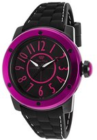 Glam Rock Women's Aqua Rock Black Silicone and Dial Pink Markers
