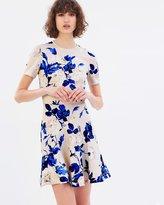 Lover Watercolour Scuba Mini Dress