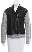 Tibi Contrast Zip-Up Jacket