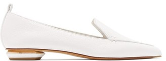 Nicholas Kirkwood Beya Grained-leather Loafers - Womens - White