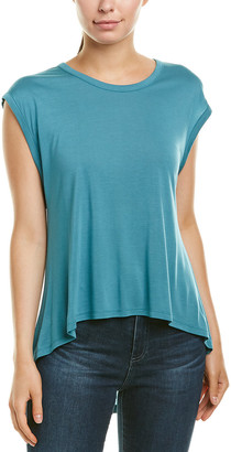 Haute Hippie Solid Sleeveless High-Low Top